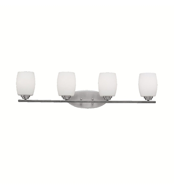 Kichler 5099NI Eileen Collection Bath 4 Light in Brushed Nickel