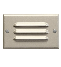 Kichler LED Step Light Horiz. Louver in Brushed Nickel