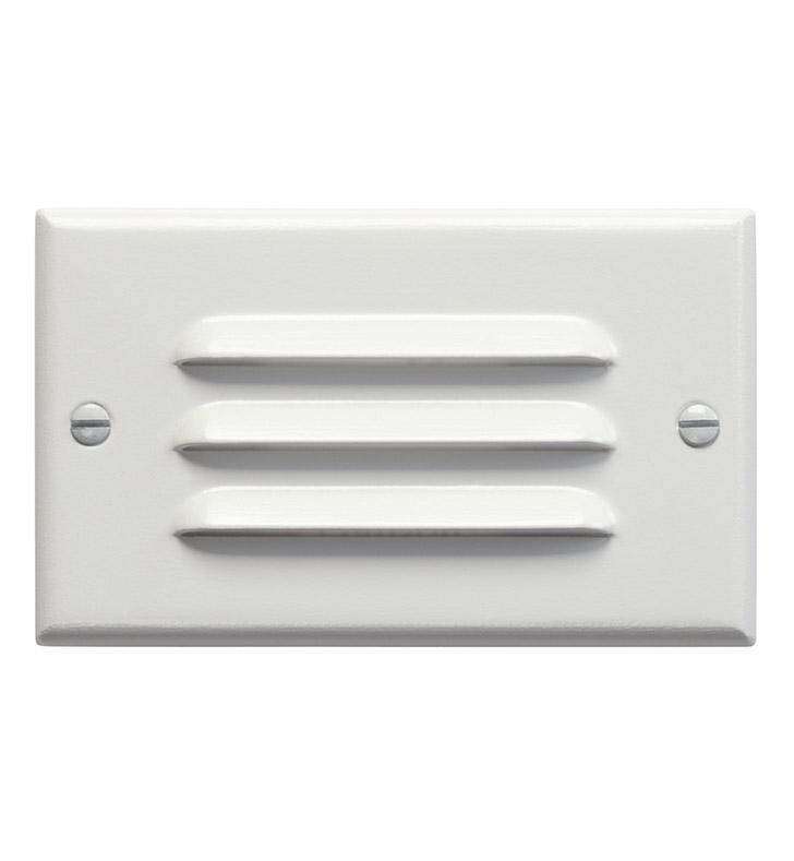 Kichler 12600WH LED Step Light Horiz Louver In White