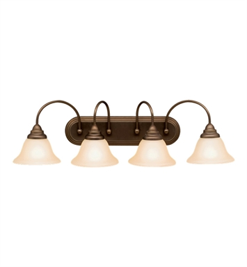 Kichler 10610OZ Telford Collection Bath 4 Light Fluorescent in Olde Bronze