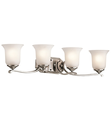 Kichler 45404CLP Wellington Square Collection Bath 4 Light in Classic Pewter