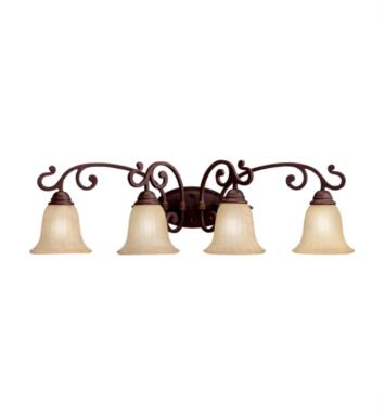 "Kichler 5990CZ Wilton 4 Light 34"" Incandescent Wall Mount Bath Light in Carre Bronze"