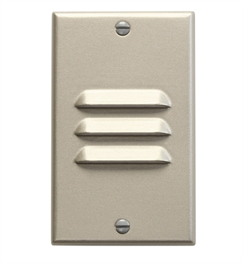 Kichler 12606NI LED Step Light Vertical Louver in Brushed Nickel