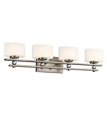 Kichler 45323AP Revere Collection Bath 4 Light Halogen in Antique Pewter
