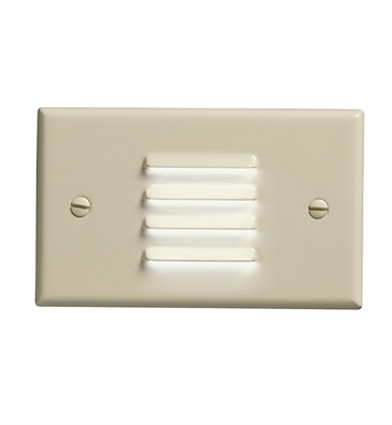 Kichler 12650IV LED Step Light Horiz. Louver in Ivory