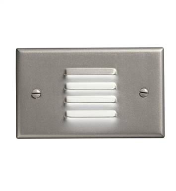 Kichler 12650NI LED Step Light Horiz. Louver in Brushed Nickel