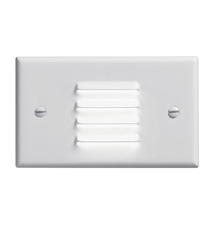 Kichler 12650WH LED Step Light Horiz Louver In White