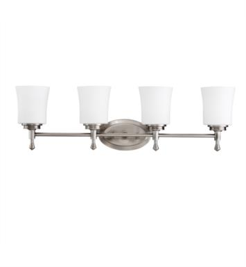 "Kichler 5362NI Wharton 4 Light 30 1/4"" Incandescent Wall Mount Bath Light in Brushed Nickel"