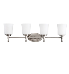 Kichler Wharton Collection Bath 4 Light in Brushed Nickel