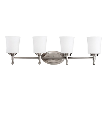 Kichler 5362NI Wharton Collection Bath 4 Light in Brushed Nickel