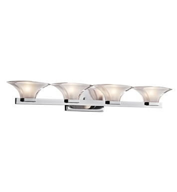 Kichler 45039CH Tulare Collection Bath 4 Light in Chrome