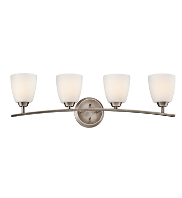 Kichler 45361BPT Granby Collection Bath 4 Light in Brushed Pewter