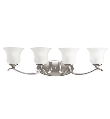 Kichler 10639NI Wedgeport Collection Bath 4 Light Fluorescent in Brushed Nickel
