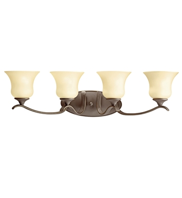 Kichler 10639OZ Wedgeport Collection Bath 4 Light Fluorescent in Olde Bronze