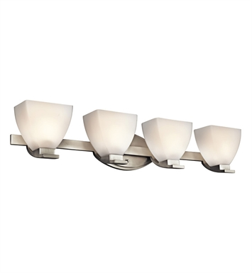 Kichler 45116NI Claro Collection Bath 4 Light in Brushed Nickel