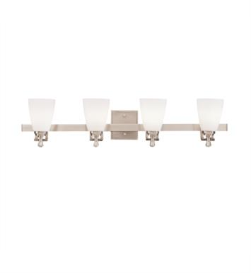 "Kichler 5404NI Uptown 4 Light 32 3/4"" Incandescent Wall Mount Bath Light in Brushed Nickel"