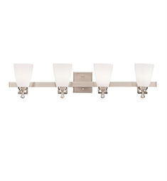 Kichler Uptown Collection Bath 4 Light in Brushed Nickel