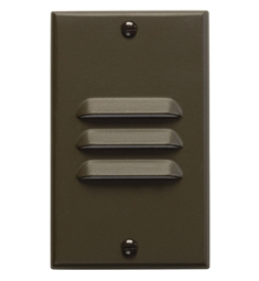 Kichler LED Step Light Vertical Louver in Architectural Bronze