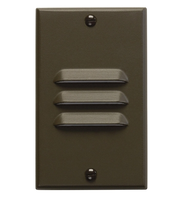 Kichler 12656AZ LED Step Light Vertical Louver in Architectural Bronze