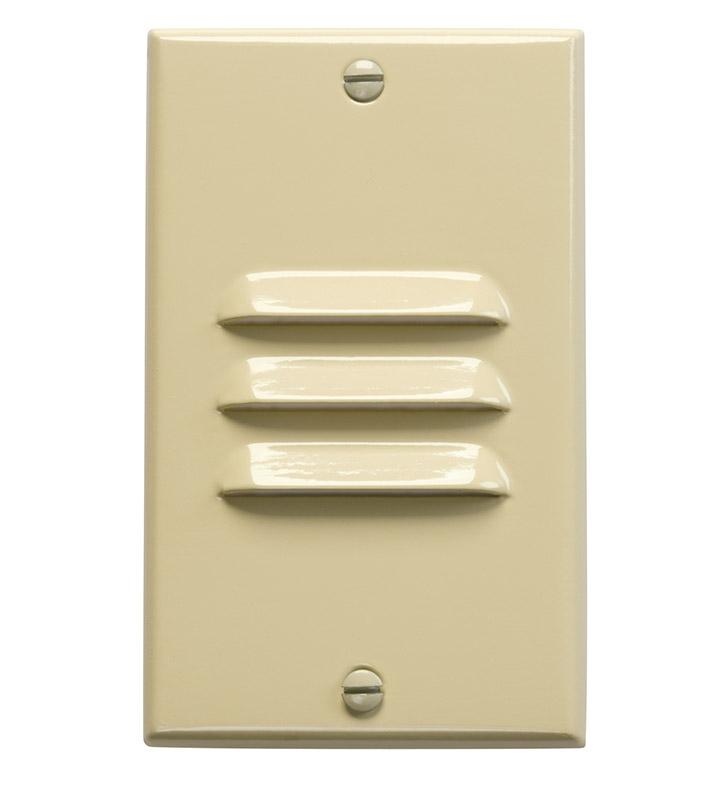 Kichler 12656IV LED Step Light Vertical Louver In Ivory