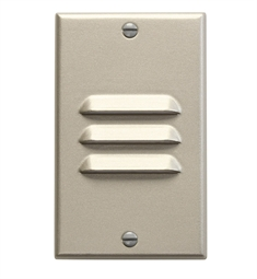 Kichler LED Step Light Vertical Louver in Brushed Nickel