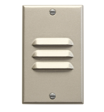 Kichler 12656NI LED Step Light Vertical Louver in Brushed Nickel