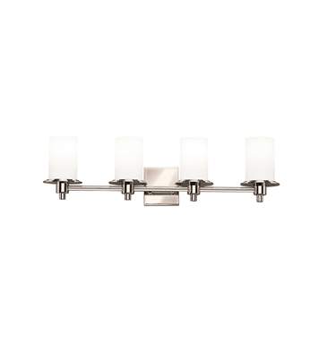 Kichler 5439PN Cylinders Collection Bath 4 Light in Polished Nickel