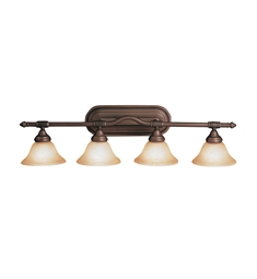 Kichler Broadview Collection Bath 4 Light in Olde Bronze