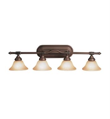 Kichler 6494OZ Broadview Collection Bath 4 Light in Olde Bronze