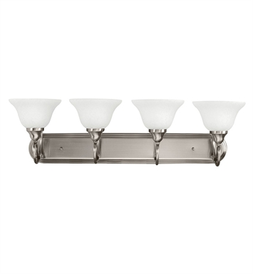 Kichler 5559AP Stafford Collection Bath 4 Light in Antique Pewter