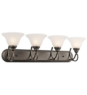 Kichler 5559OZ Stafford Collection Bath 4 Light in Olde Bronze