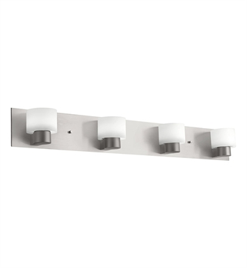 Kichler 10404NI Adao Collection Bath 4 Light Fluorescent in Brushed Nickel