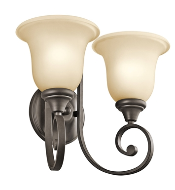 Kichler Monroe Collection Wall Bracket 2 Light in Olde Bronze