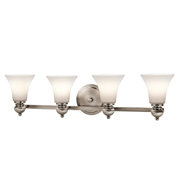 Kichler 45049CLP Bath 4 Light in Classic Pewter