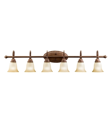 Kichler 5218TZG Larissa Collection Bath 6 Light in Tannery Bronze with Gold Accent