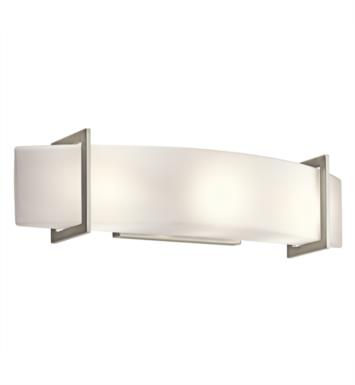 "Kichler 45220NI Crescent View 3 Light 24"" Incandescent Linear Bath Light in Brushed Nickel"