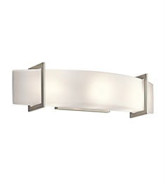 Kichler 45220NI Crescent View Collection Linear Bath 24 inch in Brushed Nickel