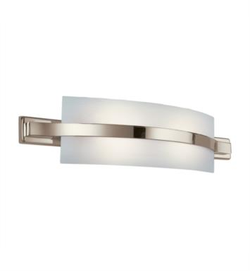 "Kichler 10687PN Freeport 2 Light 28"" Compact Fluorescent Linear Bath Light in Polished Nickel"