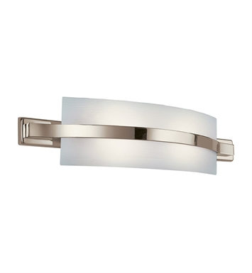 Kichler 10687PN Freeport Collection Linear Bath 28 inch Fluorescent in Polished Nickel