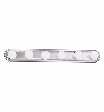 Kichler 5018NI 6-Bulb Bathroom Strip Light With Finish: Brushed Nickel