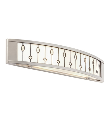 Kichler 69157 Cloudburst Collection Linear Bath 24 inch in Polished Nickel