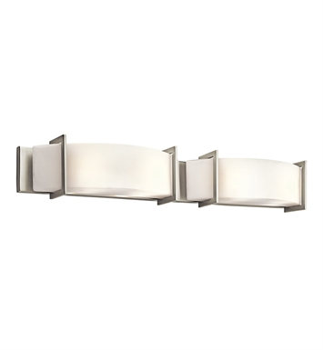 Kichler 45221NI Crescent View Collection Linear Bath 39 Inch in Brushed Nickel