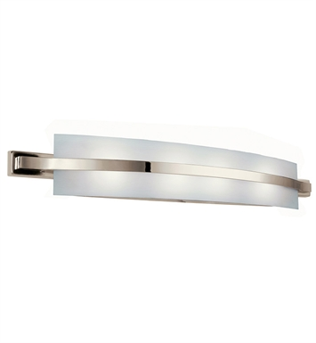 Kichler 10688PN Freeport Collection Linear Bath 36 Inch Fluorescent in Polished Nickel