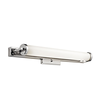 Kichler 10405PC Linear Bath 27 Inch Fluorescent in Polished Chrome