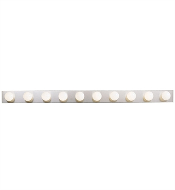 Kichler 630NI 10-Bulb Bathroom Strip Light in Brushed Nickel - Sold as a package of 2