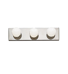 Kichler 623CH 3-Bulb Bathroom Strip Light in Chrome