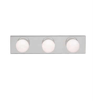 Kichler 623NI 3-Bulb Bathroom Strip Light in Brushed Nickel